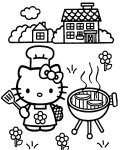 Hello Kitty gratis ausmalbild