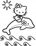 Hello Kitty kinder ausmalbild