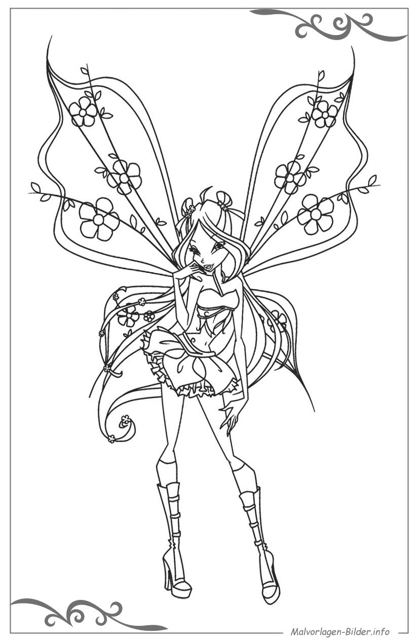 Wings Club Coloring Pages
